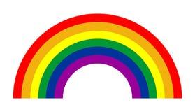 Rainbow vector. Rainbow vector symbol. Nature specific phenomenon Royalty Free Stock Photo