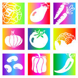 Rainbow vegetables Royalty Free Stock Photos