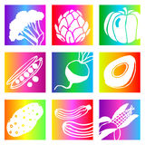 Rainbow vegetables Stock Image