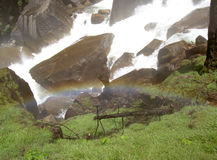 Rainbow at Vernal Falls 2. This was taken walking up the Mist Trail at Vernal Falls in Yosemite, CA - June 19, 2005 Stock Photography