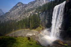 Rainbow on Vernal falls Stock Images