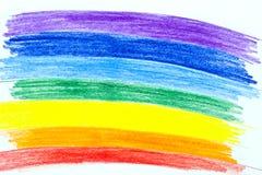 Rainbow verniciato Fotografie Stock