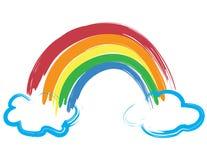 Rainbow verniciato Fotografie Stock Libere da Diritti