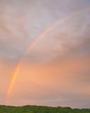Rainbow. Vertical rainbow image at sunset in Branson, Missouri Stock Photos