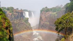Rainbow At Victoria Falls Stock Images