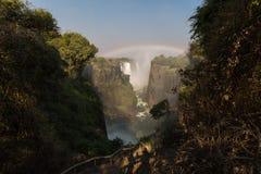 Rainbow at Victoria Falls Stock Photos