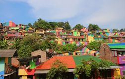 Rainbow Village Semarang royalty free stock images