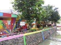 Rainbow Village in Semarang Royalty Free Stock Images