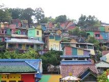 Rainbow Village in Semarang Royalty Free Stock Photography