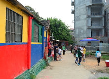 Rainbow village in Taichung Stock Images