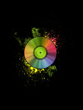 Rainbow vinyl disc Stock Photography