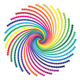 Rainbow vortex  Stock Image
