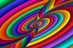 Rainbow Vortex Swirl Royalty Free Stock Images