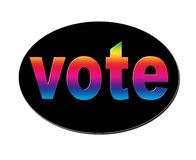 Rainbow Vote Stock Image