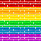 Rainbow wall Royalty Free Stock Images