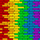 Rainbow wall Stock Photography