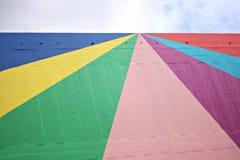 Rainbow wall royalty free stock image