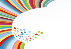 Rainbow wall in pieces Stock Images