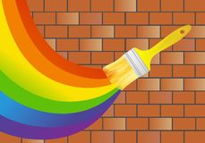 Rainbow on wall Royalty Free Stock Image