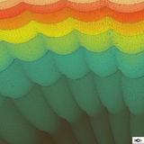 Rainbow Wallpaper. Abstract Wavy Grid Background. Mosaic. Royalty Free Stock Image