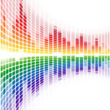 Rainbow warped digital equalizer on white Royalty Free Stock Images