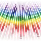 Rainbow warped digital equalizer on white Royalty Free Stock Photos