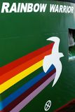 Rainbow Warrior logo on Rainbow Warrior III Royalty Free Stock Photos
