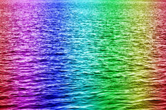 Rainbow water. In the horizontal composition royalty free stock photography