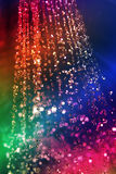 Rainbow of water. A spray of water with rainblow colors running diagonally across the water Royalty Free Stock Photos