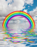 Rainbow in water Royalty Free Stock Photo
