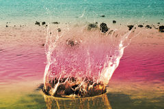 Rainbow Water crown Stock Images