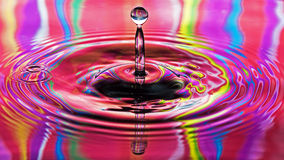 Rainbow  Water Drop Royalty Free Stock Photography