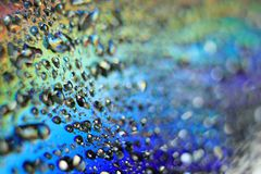 Rainbow Water Droplets Royalty Free Stock Photos