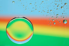 Rainbow Water Drops Stock Photo