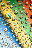 Rainbow water drops Royalty Free Stock Images