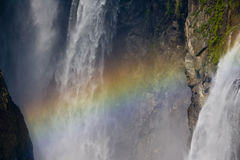 Rainbow in Water Falls Royalty Free Stock Photo