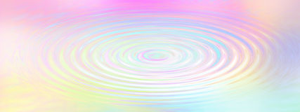 Rainbow Water Ripple Background Stock Photo