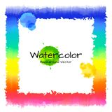 Rainbow with watercolor. Stock Photo