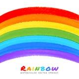 Rainbow Watercolor Brush Smears, Royalty Free Stock Image