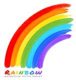 Rainbow Watercolor Brush Smears Royalty Free Stock Photography