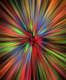 Rainbow watercolor burst Stock Images
