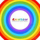 Rainbow Watercolor circle Royalty Free Stock Photography