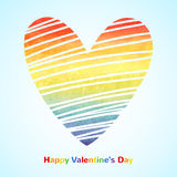 Rainbow watercolor gradient heart Royalty Free Stock Images