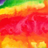 Rainbow watercolor hand-drawn baclground Royalty Free Stock Photos