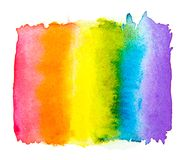 Rainbow watercolor isolated on a white background , Gay pride LGBT , against homosexual discrimination symbol concept stock illustration