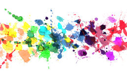 Rainbow of watercolor paint royalty free illustration