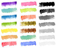 Rainbow watercolor paint stripe Stock Photos
