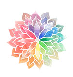 Rainbow watercolor painted flower. Decorative element for design. Artistic creative concept Royalty Free Stock Photos
