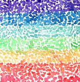 Rainbow watercolor texture. Color paint stains royalty free stock photos