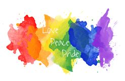 Rainbow watercolor texture royalty free illustration